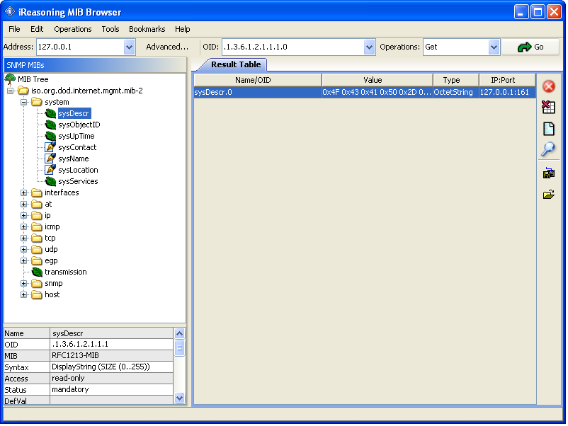 ireasoning mib browser free download